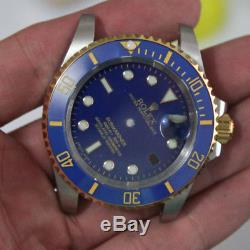 Watch repair parts for blue gold submariner watch case kit FIT 2836 movement