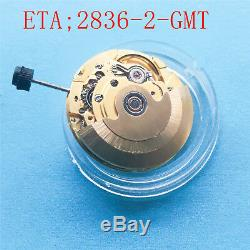 Watches for Parts, ETA 2836-2 Automatic GMT New Mechanical Movement-GMT006