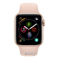 Working Condition Apple Watch S4 40mm (Cellular) Gold Al Case with Pink Sand Spo