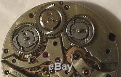 XFine & Rare pocket watch movement double train balance broken to restore