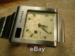 ZENITH WATCH FUTUR TIME COMMAND For Spare Parts
