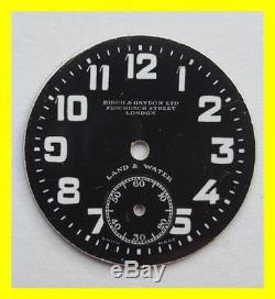 Zenith Birch&gaydon Land Water Black Trench Watch Dial For Parts. 29mm-good