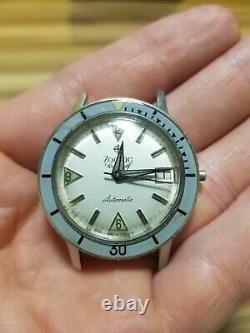 Zodiac Sea Wolf Men's Diver Watch 60-s vintage for Parts or Repair